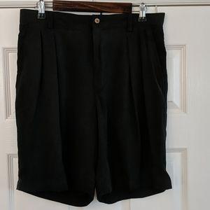 TOMMY BAHAMA Pleated Silk Shorts